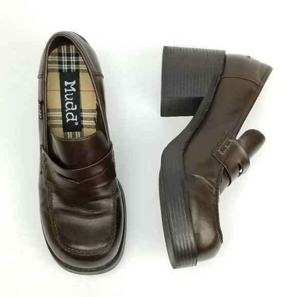 c0faff403220c Vintage 90s Mudd Platform Loafers